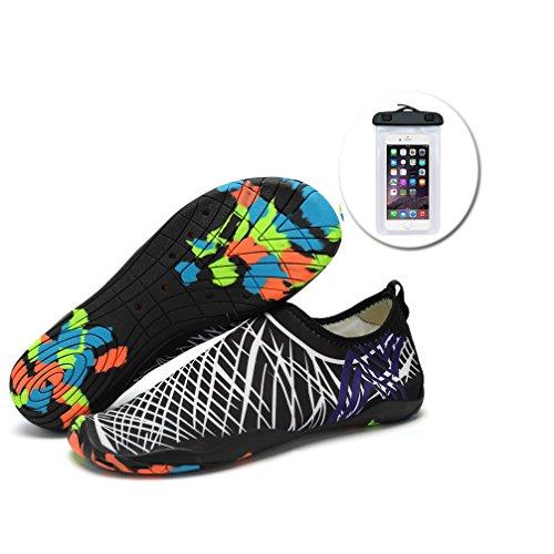 Wasser Schuhe fuer Frauen Barefoot Running Aqua Socken Quick-Dry Mutifunktionell Leicht fuer Schwimmen Surfen Strand Walking Garden, Bootfahren (2.Navy, 9-9.5US Frauen), Gr. 40 (9.5-running-schuhe)