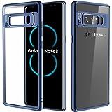 Samsung Galaxy Note 8 Hülle, ROCK Crystal Hybride Transparent Schutzhülle Kratzfest Handyhülle Case/Cover Bumper für Samsung Galaxy Note 8 - blau