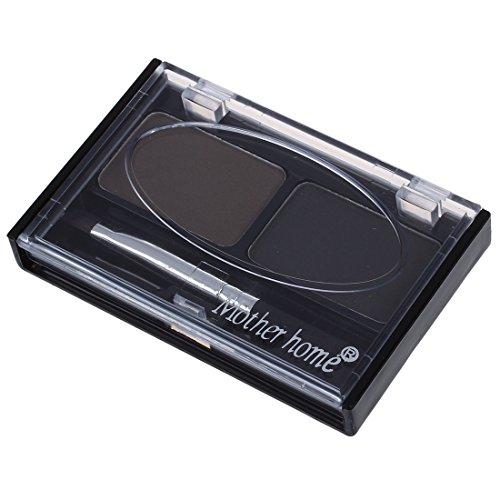 SODIAL(R) Pochoirs a sourcils & Multicolore Pour Sourcils Hydrofuge Faconner Fard a Paupieres Poudre - Gris et Noir