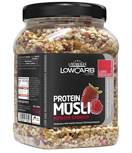 Layenberger LowCarb.one Protein Müsli Himbeer-Erdbeer, 3er Pack (3 x 565 g)