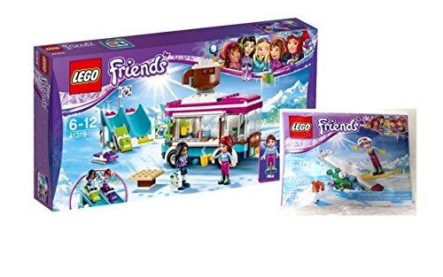 Lego Friends Set - 41319 Kakaowagen am Wintersportort + 30402 Snowboard Tricks im Beutel