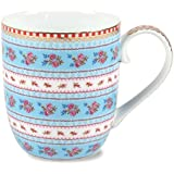 Pip Studio Ribbon Rose Taza Senseo, porcelana, azul, 145 ml