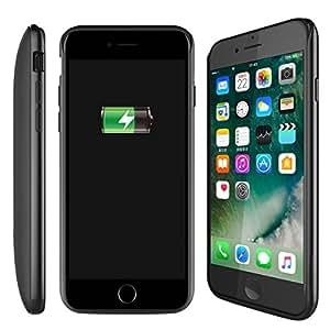 Custodia Batteria iPhone 7 Plus, Moonmini® Per iPhone 7 Plus 7500mAh Batteria Ricaricabile Esterna Power Bank Integrata Charger Case Custodia Prottetiva (Black)