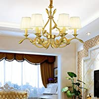 lampadari in rame country americano/Nordic minimalista moderno salotto camera da letto sala da pranzo Villa lampada/ vintage in ottone massiccio-10-Lights