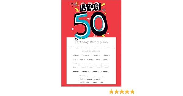 Birthday Invitations Female 50th Birthday Pack Of 20 Sheets