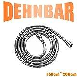 DSIKER Premium Brauseschlauch, Von 160cm (63'') bis 200cm (79