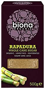Biona Organic Rapadura Sugar 500 g (Pack of 3)