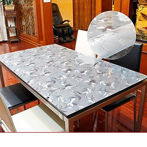 chiffon doux verre/étanche,pvc,transparent,plastique,tapis mat mat/tapis de table à thé/nappe cristal-P 80x140cm(31x55inch)