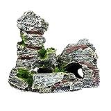 Mioloe Adorno de Acuario Montaña Decoración Tanque de Peces Paisaje Roca Escondite Cueva Árbol Acuario Decoración