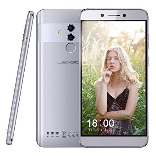 Smartphone ohne Vertrag Leagoo T8s 4G LTE Mobiltelefon 5,5 Zoll FHD Display Doppel Rückfahrkamera, RAM 4GB + ROM 32 GB, 128 GB Erweiterbar, Gesicht Fingerabdruck entsperren, Android 8.1 Dual SIM Günstiges Telefon (Mokka Grau)