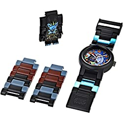 Lego Legends of Chima Children's Gorzan Minifigure Quartz Watch with Blue Dial Analogue Display and Multicolour Plastic Strap 8020202
