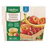 Blédina 4 Coupelles Pommes Fraises Bananes dès 6 mois
