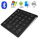 IKOS Bluetooth Pliable Clavier sans Fil, Clavier Souple Format de Poche Mini Rechargeable, pour Apple iPhone iPad Mac Samsung Galaxy Tablette iOS/Android/Windows téléphones