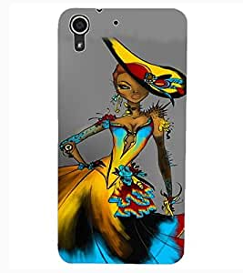 ColourCraft Stylish Girl Design Back Case Cover for HTC DESIRE 626s