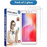CELLBELL® Tempered Glass Screen Protector for Xiaomi Redmi 6A(Transparent) [Pack of 2]