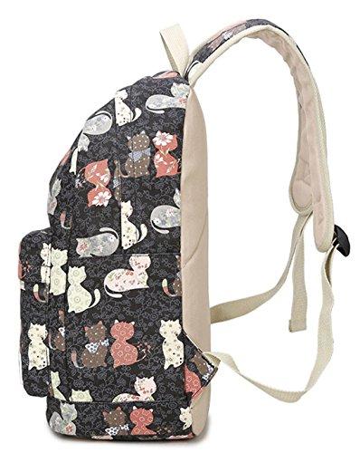 Keshi Leinwand Niedlich Damen accessories hohe Qualität Einfache Tasche Schultertasche Freizeitrucksack Tasche Rucksäcke Pink 1