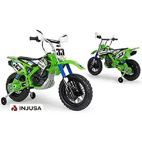 INJUSA - Moto Cross Kawasaki Batería 12V Licenciada