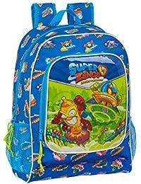 Safta Mochila Escolar de Superzings Serie 5, Azul, 320x140x420mm