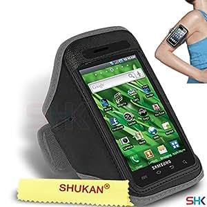 Samsung Vibrant GRIS Cycle Brassard Sport Gym Vélo réglable Exécution Jogging Sport Cover Case Holder Pouch (BB) PAR SHUKAN®