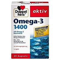 Teneur élevée en acides gras oméga-3 - EPA et DHA pour la fonction cardiaqueLe double cœur Oméga-3 1400 à haute dose contient ses précieux acides gras oméga-3 provenant d'huiles de poisson de mer sous forme concentrée.Avec une teneur en oméga-3 de 35...