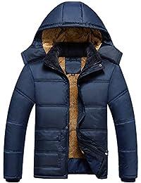Yiiquan Hommes Décontractée Chaud Veste Hoodie à capuche Manteau épais  d hiver Parka Survêtement 858b92f958b