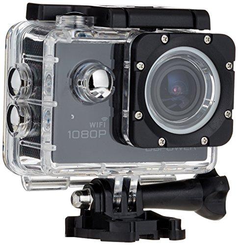 DBPOWER Original EX5000 WIFI 14MP Full HD Sports Action Kamera Camera Wasserdicht mit 2 verbesserten Batterien und Kostenlose Accessoires (Weiss)