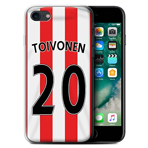 Offiziell Sunderland AFC Hülle / Gel TPU Case für Apple iPhone 7 / Matthews Muster / SAFC Trikot Home 15/16 Kollektion Toivonen