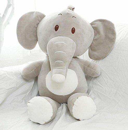 Warmman peluche regalo di natale di san valentino peluche ripiene baby 55 centimetri lunga bambola giocattolo elefante morbido cuscino per bambini e neonati (grigio)