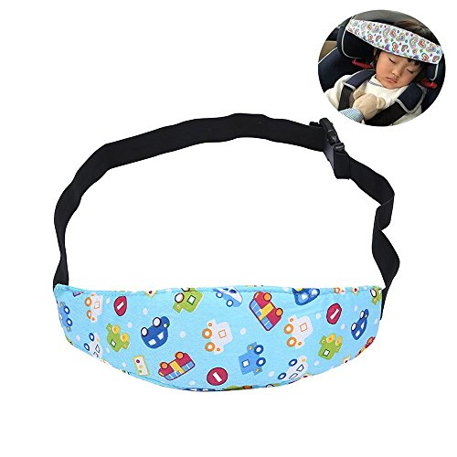 Preisvergleich Produktbild AOLVO Kleinkinder Baby Auto Kopfstütze, Sicherheit Kinderwagen Buggy Sitz KOPF Verschluss Gürtel Hals Relief und Kopf Unterstützung Verstellbarer Schlafsack Gürtel für Kinder Baby Auto