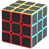 New Journey Rompecabezas Cubo Speed Fibra de carbon negro 3X3X3
