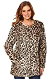 Search : Holiday suitcase-Stunning faux fur leopard print jacket coat size 6-20 uk