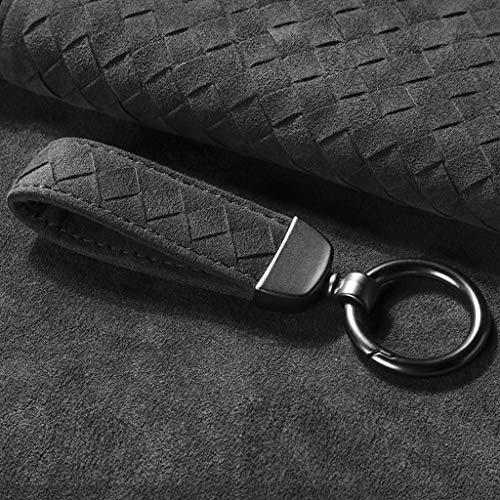 Flut-metall (WYY Auto Keychain Leder Schlüssel Anhänger Männer Metall Flut Marke Keychain)