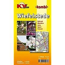 Wiefelstede: Gemeindeplan 1:12.500 mit Freizeitkarte 1:25.000 inkl. Radrouten und Anschluss an Westerstede (KVplan Ostfriesland-Region / http://www.kv-plan.de/Ostfriesland.html)