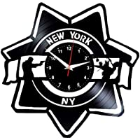 EVEVO CSI New York Reloj de Pared Vinilo Tocadiscos Retro de Reloj Grande  Relojes Style habitación 04399d0654a