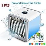 Mobile Klimageräte, AXUAN Mini Klimaanlage Tragbar Luftkühler USB Air Cooler Conditioner mit Luftbefeuchter & Luftreiniger (Mobile Klimageräte) (Mobile Klimageräte)