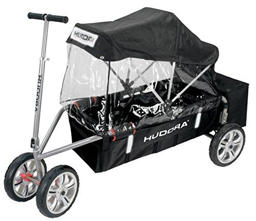 Preisvergleich Produktbild LUXUS Bollerwagen Aluminium mit Verdeck & Kühltasche von HUDORA Überländer-De-Lux