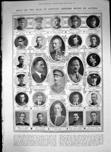 Tote Bereich-EhrenOffiziere Beendeten Vorgang ein Percival J Allen 1914