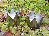 Deko-Kronen Kerzenhalter z Stecken 2 Stück Teelichthalter Eisen Silber