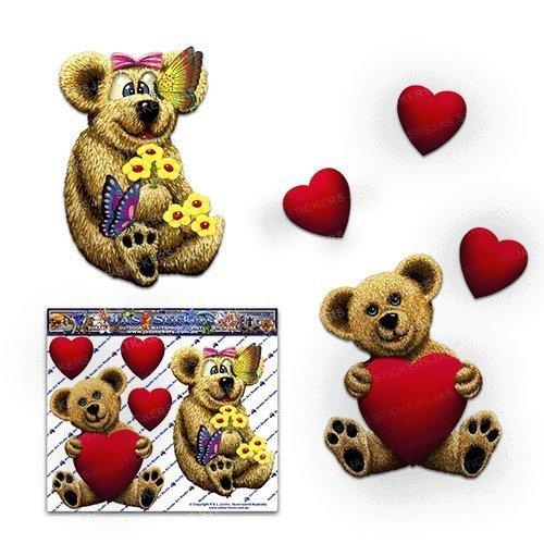 Teddybären Kinder Spielzeug Liebe Herz Tier Niedlich Lustige Auto Aufkleber - ST00068_LGE - JAS Aufkleber