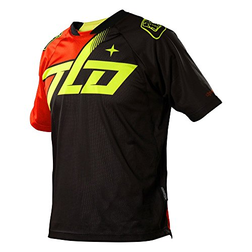 Troy Lee Designs Skyline in Jersey (2015) Arancione Dawn Black/Red/Yellow XL