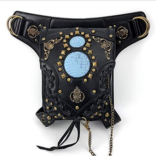 Leder Retro Schultertasche, Handtasche Steampunk, Gotische Beintasche, Punkgürteltasche, Mehrzweck Bein/Arm Tasche Für Outdoor Radfahren Reiten Umhängetasche