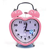 ISABELLE Réveil pour enfants Réveil Silencieux Lumineux Réveille-matin de Réveil Voyage Moderne rétro classique Rose