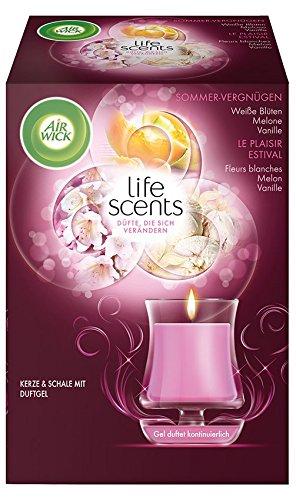 Schale Duft (Air Wick Kerze und Schale mit Duftgel, Sommervergnügen, 130g)