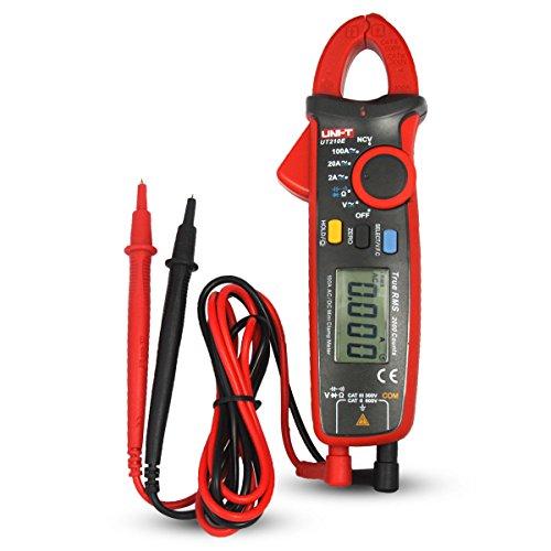 UNI-T UT210E Mini Digital Clamp Meter Multímetros DC Clamp Multímetro Pinza Voltímetro Amperímetro Digital Voltimetro Ohmímetro Amperímetro con LCD Retroiluminación