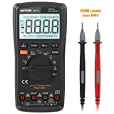 Meterk Digital Multimeter 6000 Counts True RMS Auto Range DMM ,NCV Detector DC AC Voltage Current Meter, Live Line Tester Temperature Continuity HZ Test with Backlight LCD Display