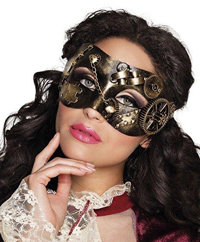 erdbeerclown- Steampunk Maske, Kostümzubehör, Karneval, Fasching, Mehrfarbig