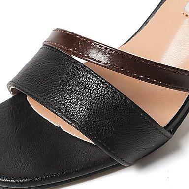 LvYuan Da donna Sandali Con cinghia PU (Poliuretano) Estate Casual Con cinghia Fibbia Quadrato Nero Beige 2,5 - 4,5 cm Black