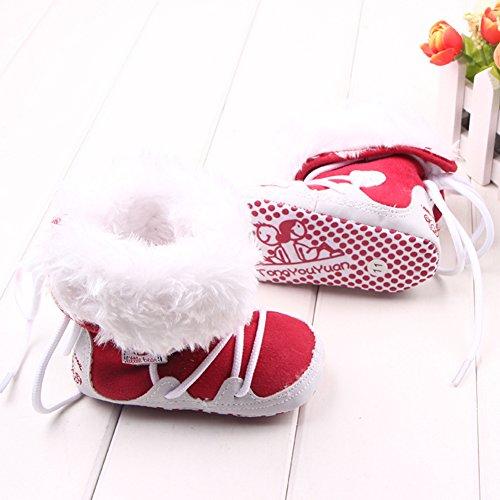 leap frog  Mid Culf Snow Boots, Baby Jungen Krabbelschuhe & Puschen Rot