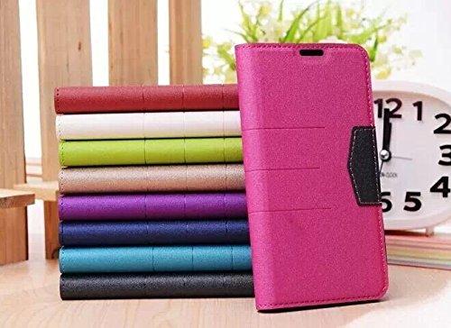 MOONCASE Coque en Cuir Portefeuille Housse de Protection Étui à rabat Case pour Apple iPhone 6 Plus saphir HotRose 01