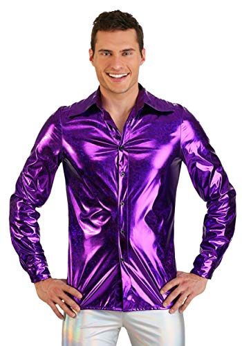 FUN Costumes Mens Shattered Glass Disco Shirt Large